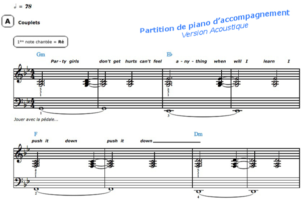 partition piano chandelier acoustique