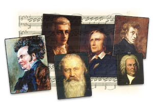 Portaits des compositeurs